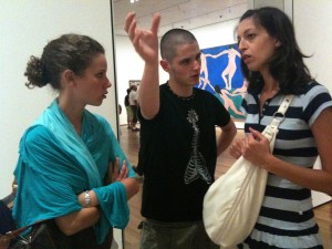 Discussing paintings (in English!!) at the MoMA