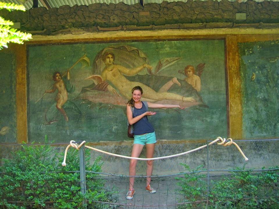 At the House of Venus in Pompeii