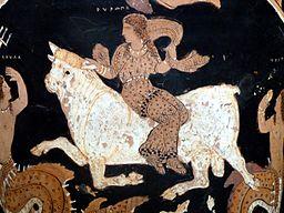Dipinto su un vaso locale (Paestum)