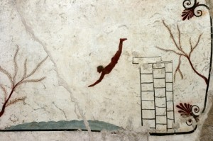 Tomb of the diver (famous ancient Greek painting)