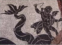 A sea-monster mosaic (Bevagna, Roman baths)