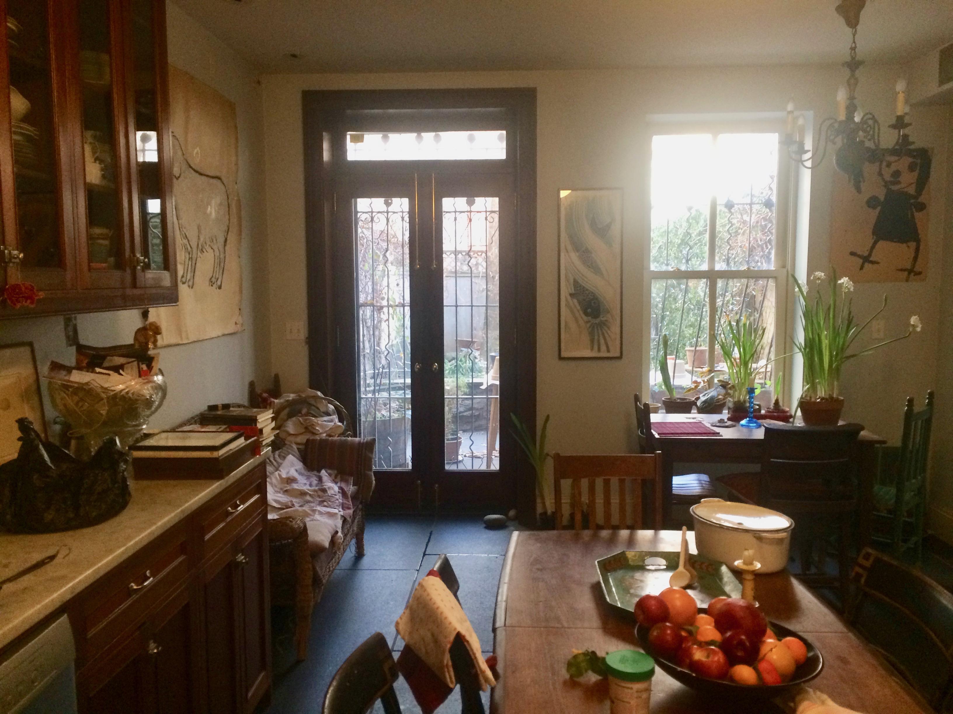 View of garden from kitchen -